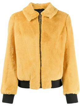 Twin-Set - shearling zipped bomber jacket 65095565593000000000