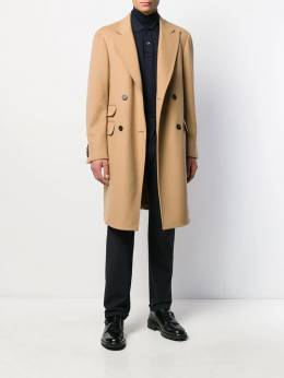 Z Zegna - fitted double-breasted coat 3895DMBG695555693000