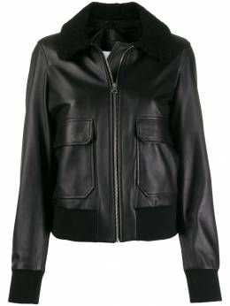 Calvin Klein - shearling-collar jacket K0695369553530500000