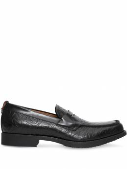Burberry - D-ring Detail Monogram Leather Loafers 53539503890500000000