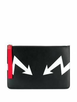 Neil Barrett - клатч с контрастной строчкой G960L906393863983000