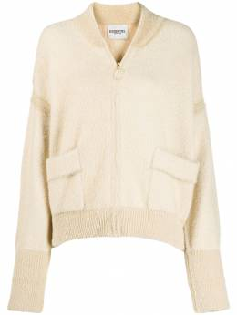 Essentiel Antwerp - knitted chevron bomber jacket PPIN9553368500000000