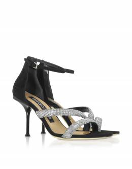 sr Milano Royal -Черные Туфли на Каблуке с Кристаллами Sergio Rossi A87241/MAFM39/1498/1 26 BLACK 35
