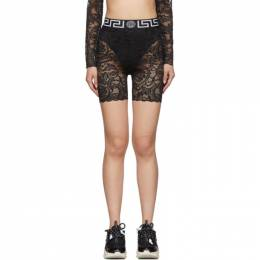 Versace Underwear Black Lace Cycling Shorts 192653F08800302GB