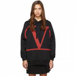Valentino Black and Red VLTN Hoodie 192476F09700105GB