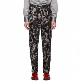 Paul Smith Black Mixed Print Oversized Trousers 192260M19100807GB
