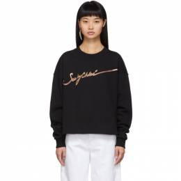 See By Chloe Black Logo Sweatshirt 192373F09800103GB