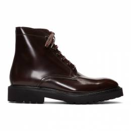 Paul Smith Burgundy Farley Boots 192260M22300505GB