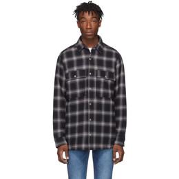 Ksubi Black and Grey Quilted Check Strata Jacket 192088M19201102GB