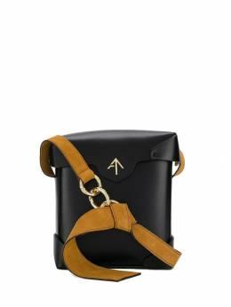 Manu Atelier - каркасная сумка с металлическим логотипом 38869556358600000000