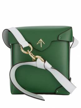 Manu Atelier - каркасная сумка с металлическим логотипом 38839556353300000000