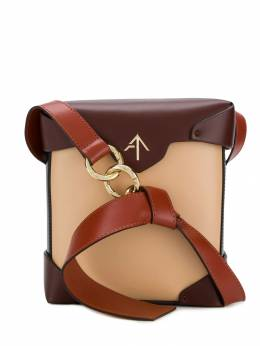 Manu Atelier - каркасная сумка с металлическим логотипом 38969556356500000000