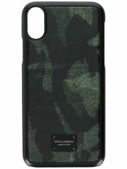Dolce&Gabbana - camouflage print iPhone X case 568AV699930693890000