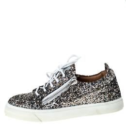 Giussepe Zanotti Metallic Tricolor Coarse Glitter Sneakers Size 37 Giuseppe Zanotti Design 229049