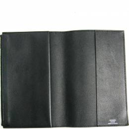Hermes Black Leather Vision Agenda Planner Cover