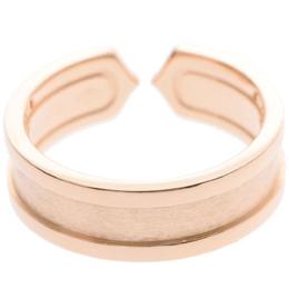 Cartier C De Cartier 18K Rose Gold Diamond Ring Size 55 227543
