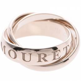 Cartier Or Amour Et Trinity 18k White Gold Rolling Ring Size 52 227557