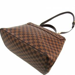 Louis Vuitton Damier Ebene Canvas Bergamo MM Bag 228782