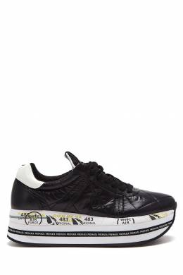 Черные кроссовки Beth на высокой подошве Premiata 827154970
