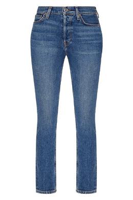 Зауженные светло-синие джинсы Re/Done 1781155105