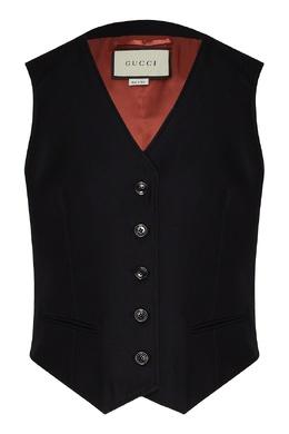 Классический черный жилет Gucci 470155066