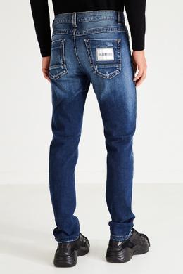 Синие джинсы с яркими лампасами Bikkembergs 1487154912