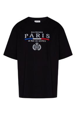 Черная футболка с логотипом Balenciaga 397155012