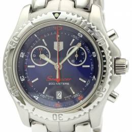 Tag Heuer Blue Stainless Steel Link Searacer Chronograph CT1115 Men's Wristwatch 41 MM 226458