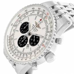 Breitling Silver Stainless Steel Navitimer Heritage A35340 Men's Wristwatch 43MM 227091