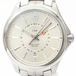 Tag Heuer Silver Stainless Steel Link Calibre 7 WAT201B Men's Wristwatch 42MM 226382