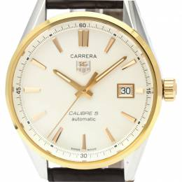 Tag Heuer Silver 18K Rose Gold and Stainless Steel Carrera Calibre 5 WAR215D Men's Wristwatch 39MM 226360