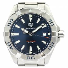 Tag Heuer Blue Stainless Steel Aquaracer 300M WBD1112 Men's Wristwatch 41MM 226340