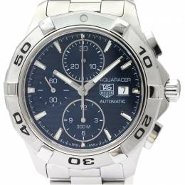Tag Heuer Blue Stainless Steel Aquaracer Chronograph CAP2112 Men's Wristwatch 42MM 226349
