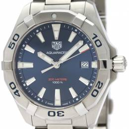 Tag Heuer Blue Stainless Steel Aquaracer 300M WBD1112 Men's Wristwatch 41MM 226339
