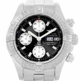 Breitling Black Stainless Steel Aeromarine Superocean A13340 Men's Wristwatch 42 MM 227210
