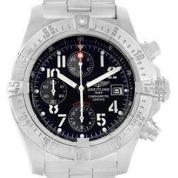 Breitling Black Stainless Steel Aeromarine Avenger Skyland A13380 Men's Wristwatch 45 MM 227202