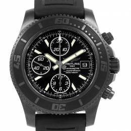 Breitling Black Stainless Steel and Rubber Superocean M18341 Men's Wristwatch 44MM 227111