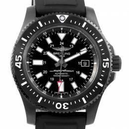 Breitling Black Stainless Steel Superocean M17393 Men's Wristwatch 44MM 227110