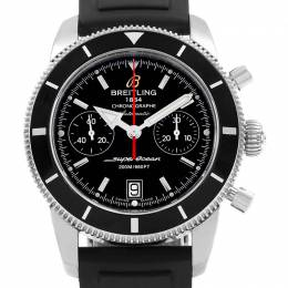 Breitling Black Stainless Steel and Rubber Superocean Heritage A23370 Men's Wristwatch 44MM 227114