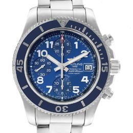 Breitling Blue Stainless Steel Superocean A13311 Men's Wristwatch 42MM 227112