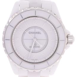 Chanel White Stainless Steel Ceramic Phantom J12 H3443 Men's Wristwatch 38MM 227587