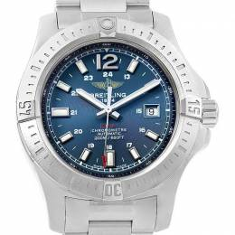 Breitling Blue Stainless Steel Colt A17388 Men's Wristwatch 44MM 227167