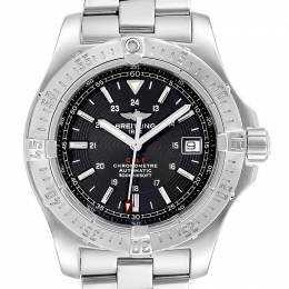 Breitling Black Stainless Steel Colt Automatic Dial A17380 Men's Wristwatch 41MM 227163
