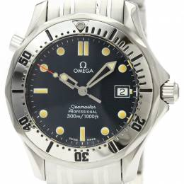 Omega Blue Stainless Steel Seamaster Professional 2562.80 Men's Wristwatch 36MM 226282