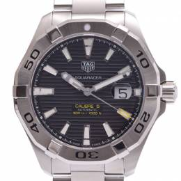 Tag Heuer Black Stainless Steel Aquaracer Caliber 5 WAY2010 Men's Wristwatch 44MM 228249