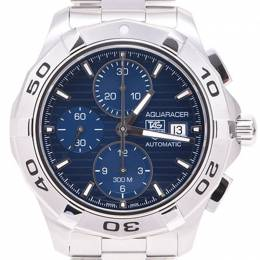 Tag Heuer Blue Stainless Steel Aquaracer Chrono CAP2112 Men's Wristwatch 43MM 228250