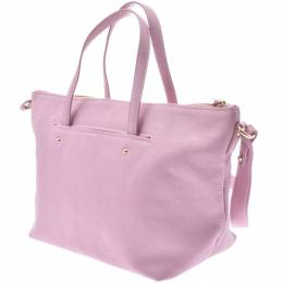 Salvatore Ferragamo Pink Leather Gancini Tote 229943