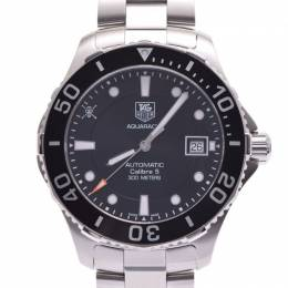 Tag Heuer Black Stainless Steel Aquaracer WAN2114 Men's Wristwatch 41MM 228310