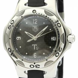 Tag Heuer Black Stainless Steel and Rubber Kirium WL1180 Men's Wristwatch 36MM 229634