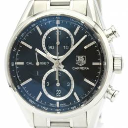Tag Heuer Black Stainless Steel Carrera Calibre 1887 Chronograph CAR2110 Men's Wristwatch 42MM 229624
